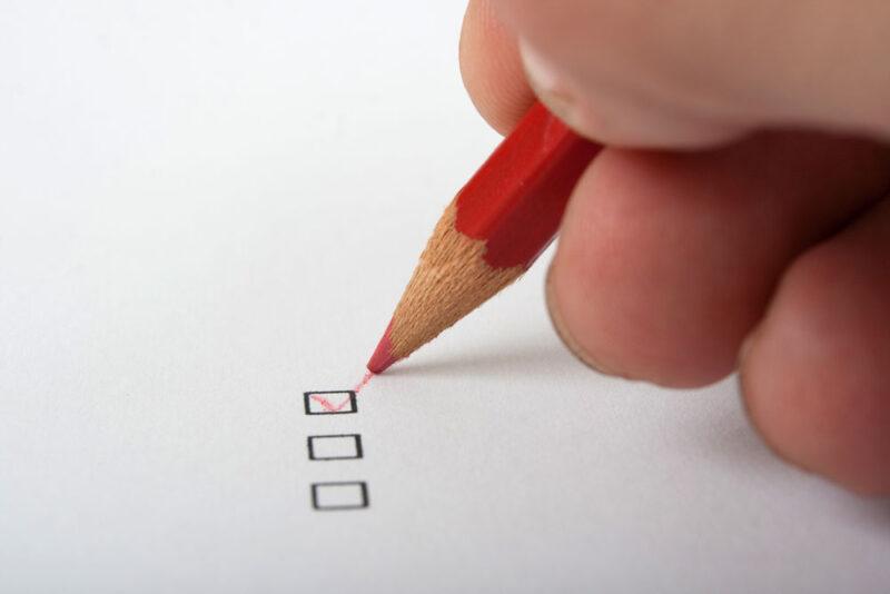 Kästchen zum abhaken als Symbolbild für eine Checkliste