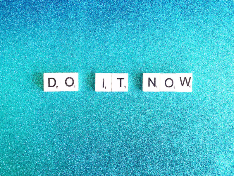 Scrabble Buchstaben do it now als Aufruf für mehr M2M