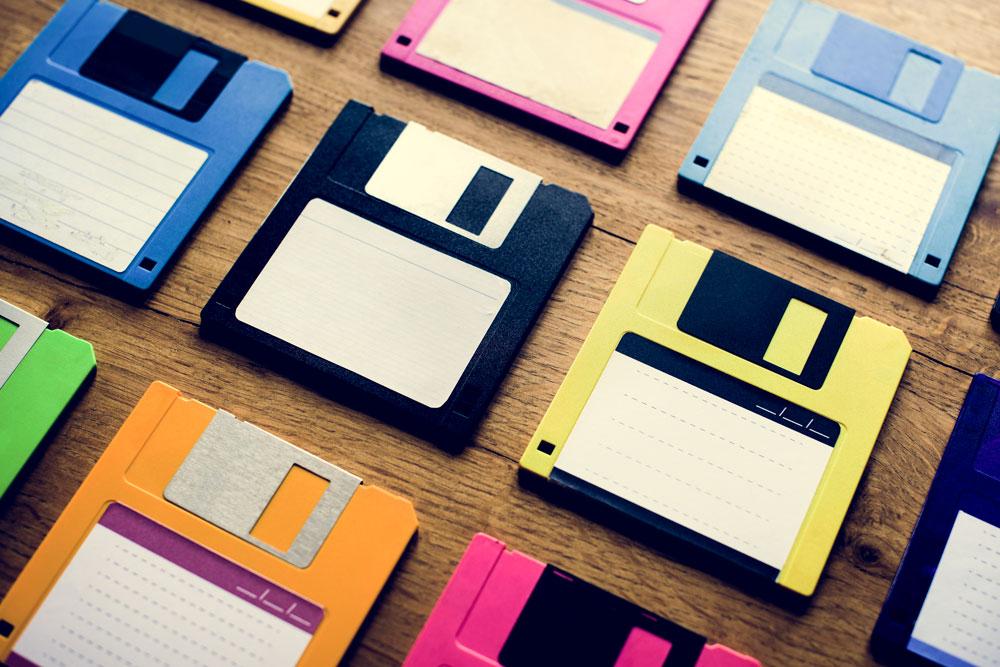 Ein Backup auf Disketten ist keine gute Idee